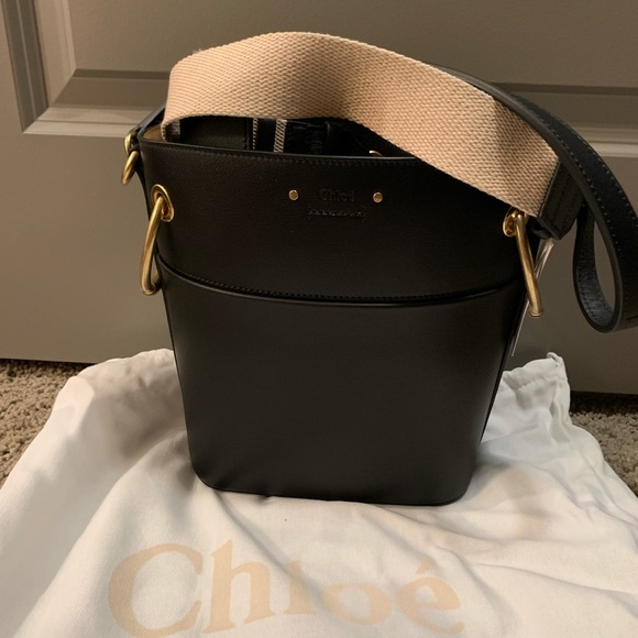 Chloe Handbags - Chloe Roy small black bucket bag